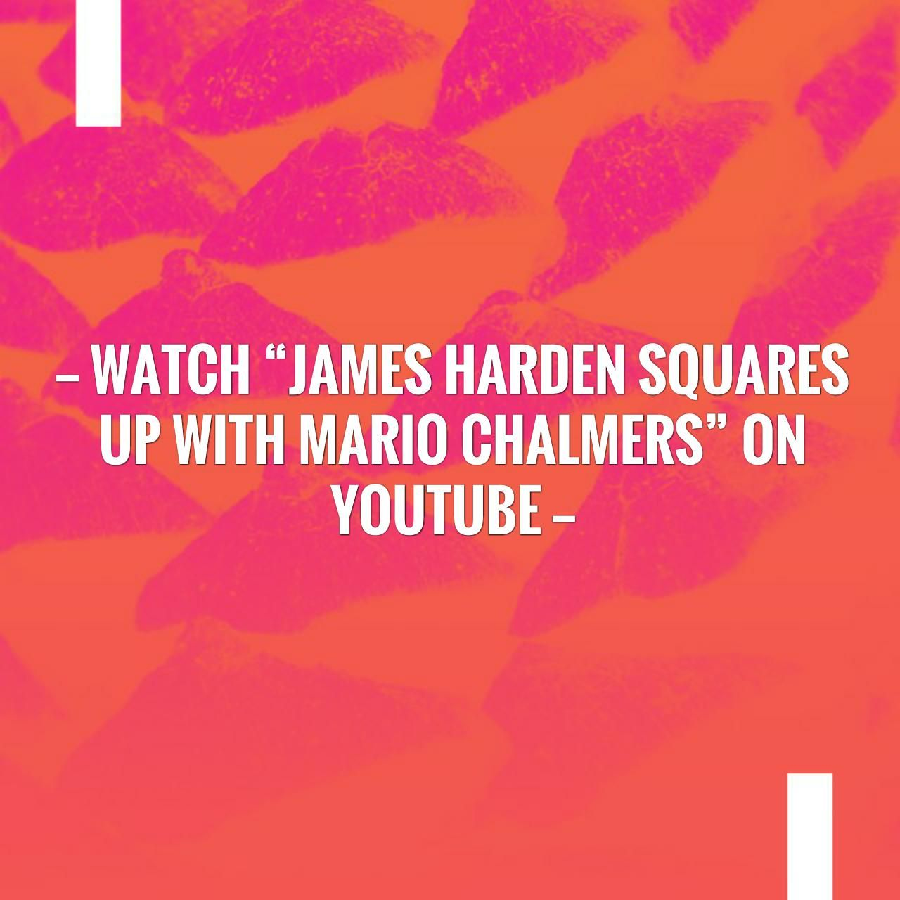 "9262fd1d95a2 Watch ""James Harden Squares Up With Mario Chalmers"" on YouTube ..."