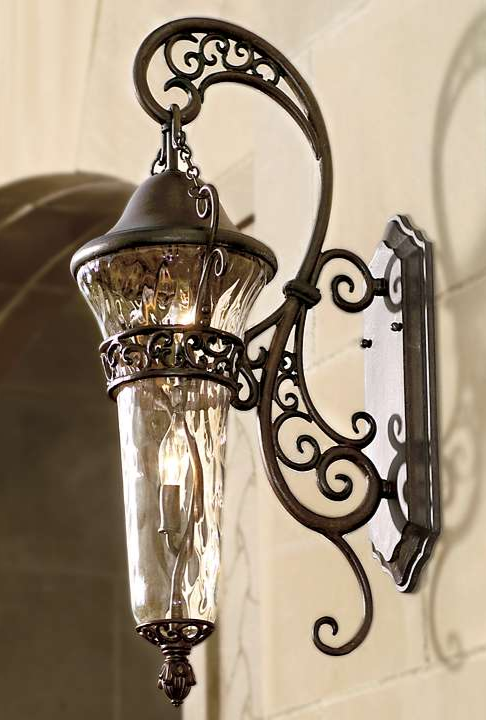 Top 15 Amazing Design Ideas Of Wrought Iron Doors Wroughirondoor Irondoor Frontdoorideas Frontdoordesign Homed Exterior Lighting Tuscan Decorating Lights