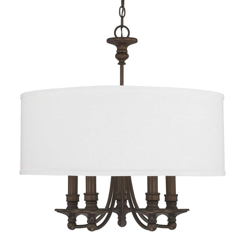 View the capital lighting 3915 455 5 light 25 wide chandelier from the midtown