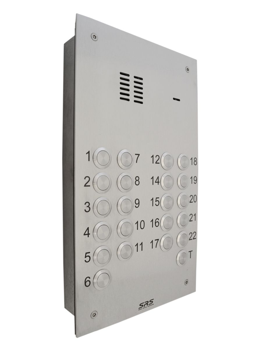 22 Button Entry Panel With Trades Button Made From Marine Grade