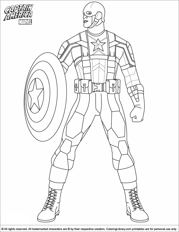 Captain America Coloring Page Marvel Coloring Superhero Coloring