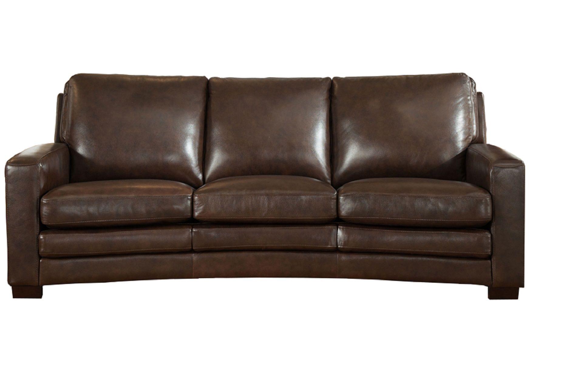 Joanna Full Top Grain Dark Brown Leather Sofa Brown Leather Sofa Dark Brown Leather Sofa Modern Leather Sofa