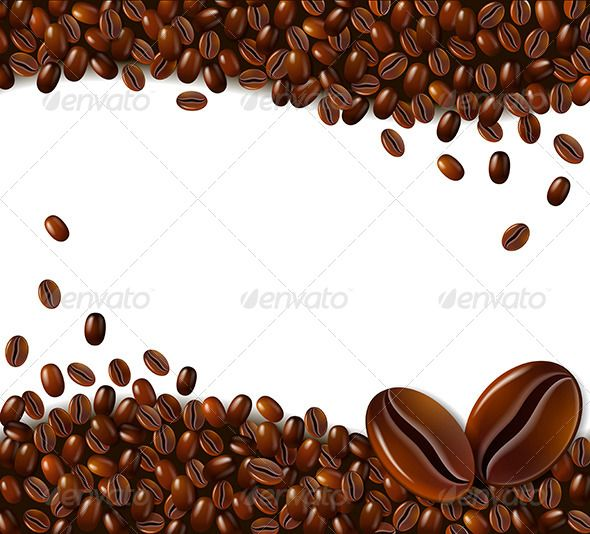 Coffee Background Coffee Vector Border Design Art