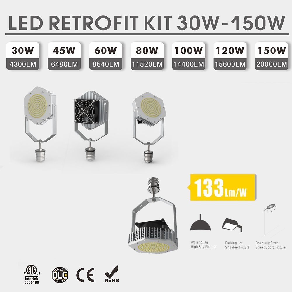 High quality LED conversion kit that can replace High bay light, cobra street light, shoebox light. LED conversion kit up to 133Lm/w. 5-year warranty, 50,000 hours of life. Feel free to contact us for more information. #retrofitkit#ledkit#ledretrofitkit#retrofitlight#cobrastreetlight#warehouselights#leds#led#ledlights#ledlight#ledlighting#shoeboxlight