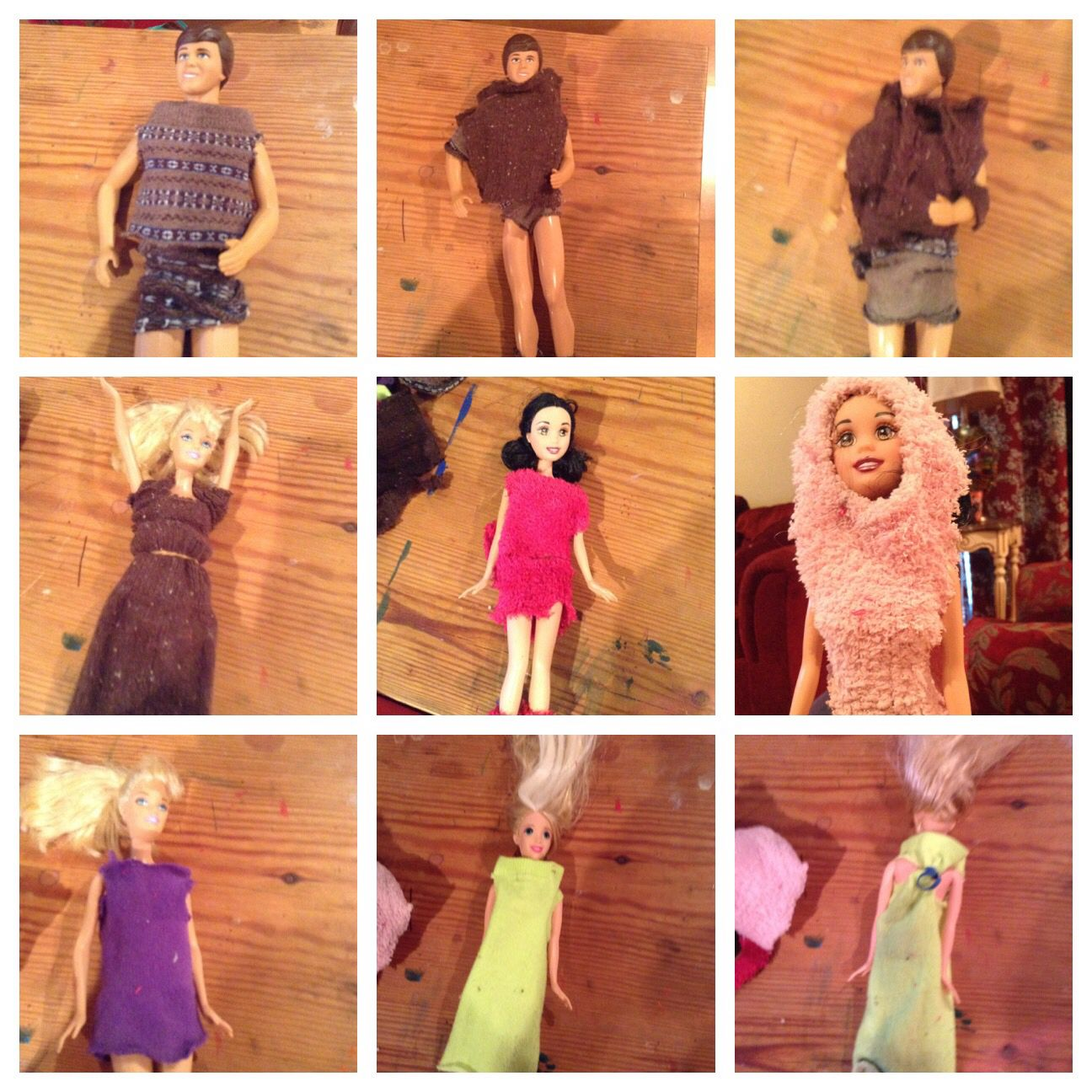 This is my doll clothes made out socks Doll clothes