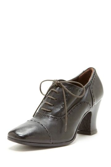 INK High Heel Lace Up Oxford