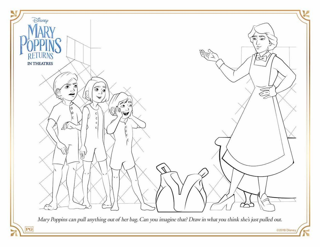 Free Printable Mary Poppins Returns Coloring Activity Sheets Cartoon Coloring Pages Coloring Pages Disney Coloring Pages [ 1024 x 1325 Pixel ]