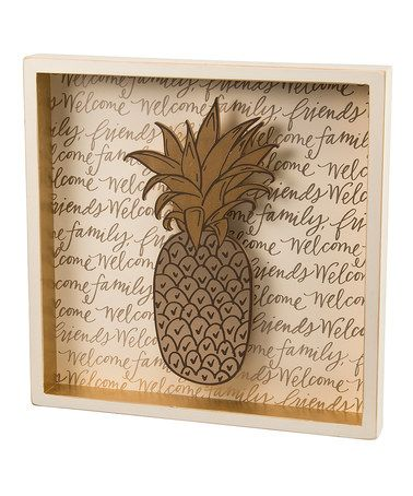 @janetsusu Another great find on #zulily! Pineapple Box Sign #zulilyfinds