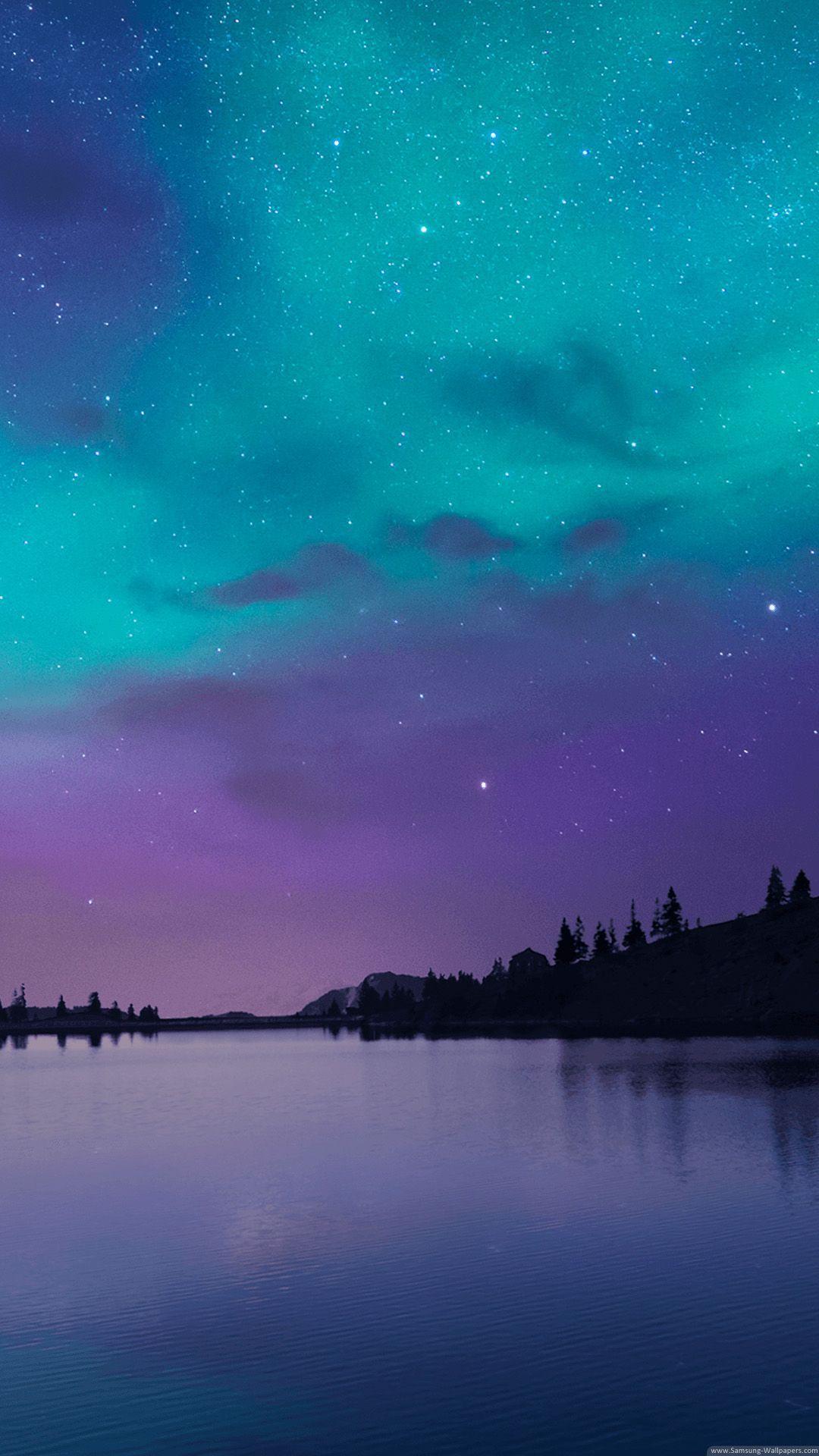 Natural Night Lock Screen in 2020 Night sky wallpaper