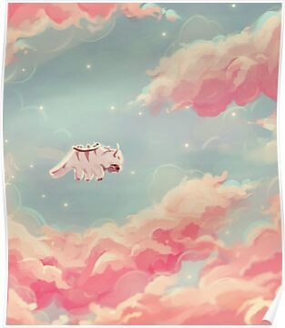 Dreamy Appa Poster Poster By Kingwise Poster Stickers Dreamy Avatar Aang