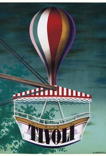 Design Med Inspiration Fra Tivoli Rejseplakat Plakater Poster Ideer