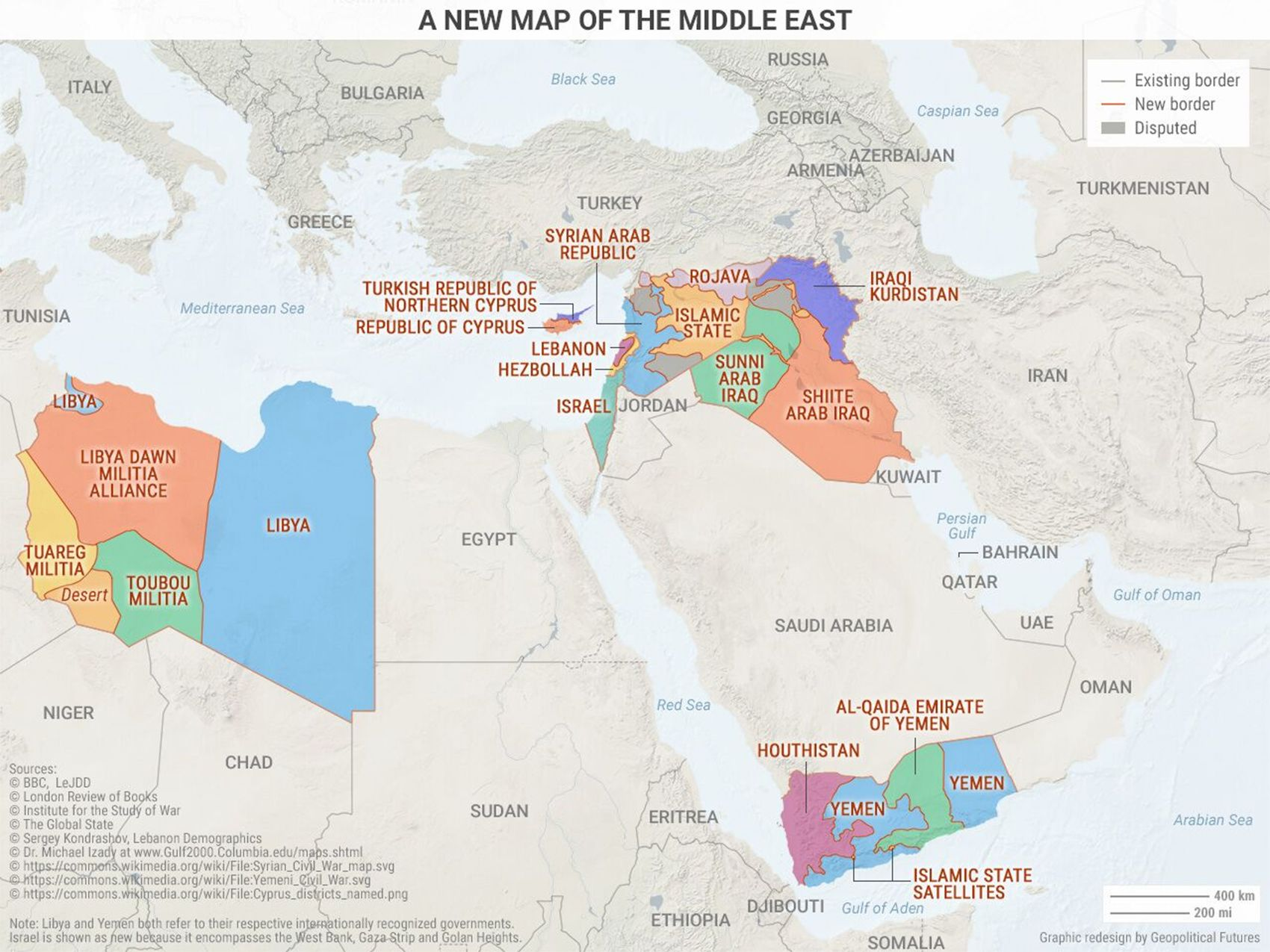 A New Map Of The Middle East From Geopolitical Futures Maps
