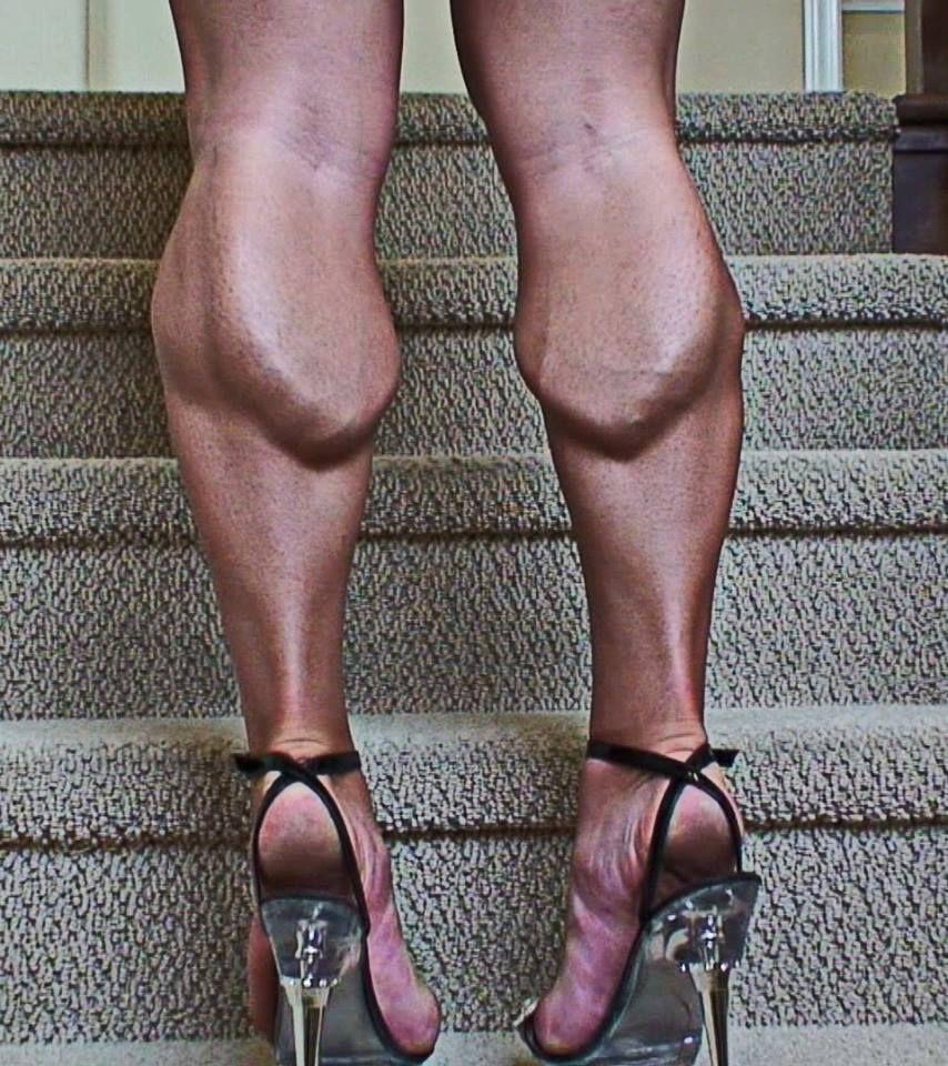 WOMEN's muscular ATHLETIC LEGS especially CALVES - daily