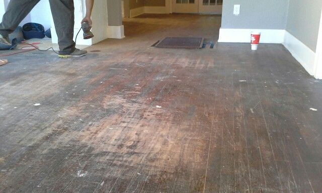 Timeless Hardwood Floors Okc, This Is Before Of Sand And Finish Here In OKC.