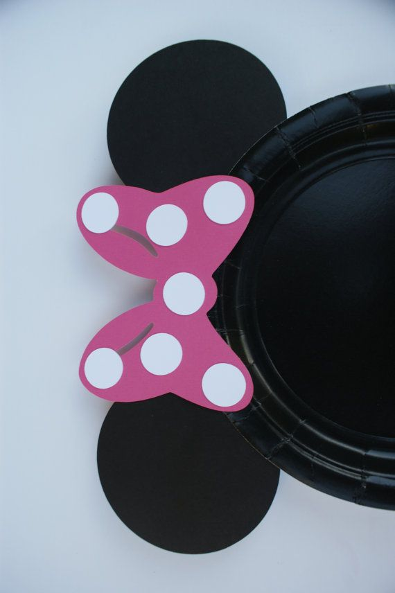 Set of 12 Minnie Mouse Plates Minnie Mouse Plates Handmade Minnie Mouse Cake Plates & Set of 12 Minnie Mouse Plates Minnie Mouse Plates Handmade Minnie ...