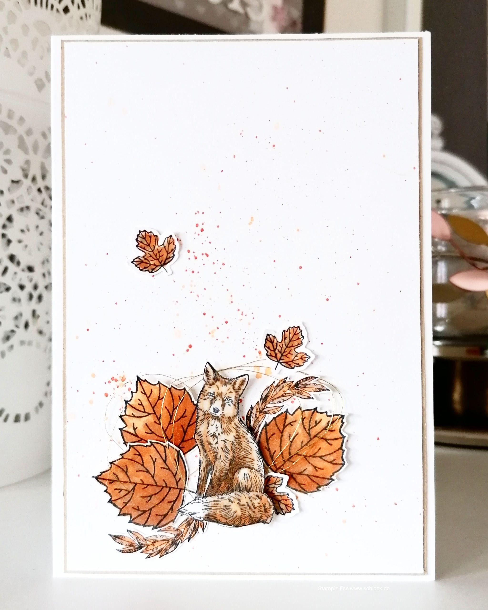 stampin 2019 2020 nature´s beauty fox fuchs herbst autumn /  für herbst und winter  / zu jeder Jahreszeit / to every season  / leaves  / blätter #autumnfoliage