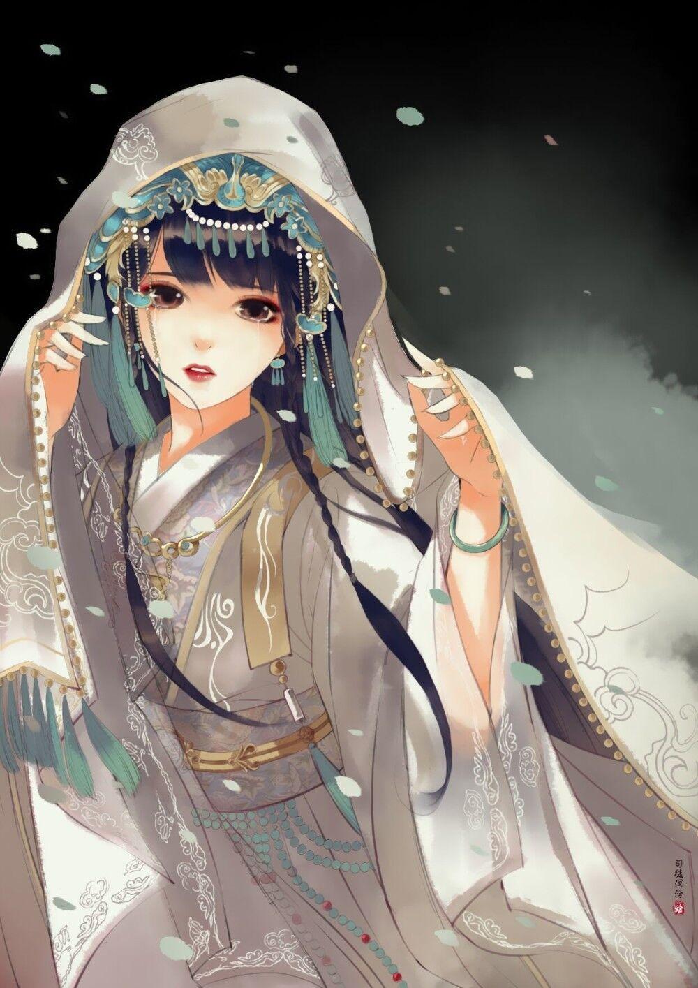 Chinese art 中国の芸術, アニメ着物, 芸術的アニメ少女