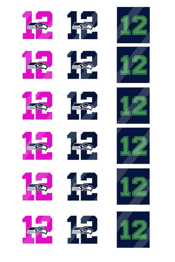 Seattle Seahawks digital collage sheet 4x6 by DesignByJT on Etsy