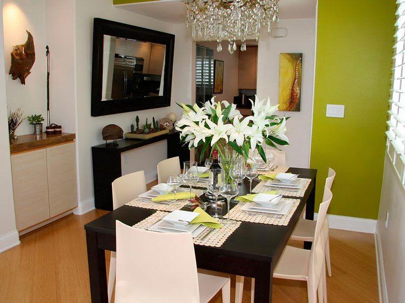 Sala de jantar pequena com espelho - Dicas Fáceis