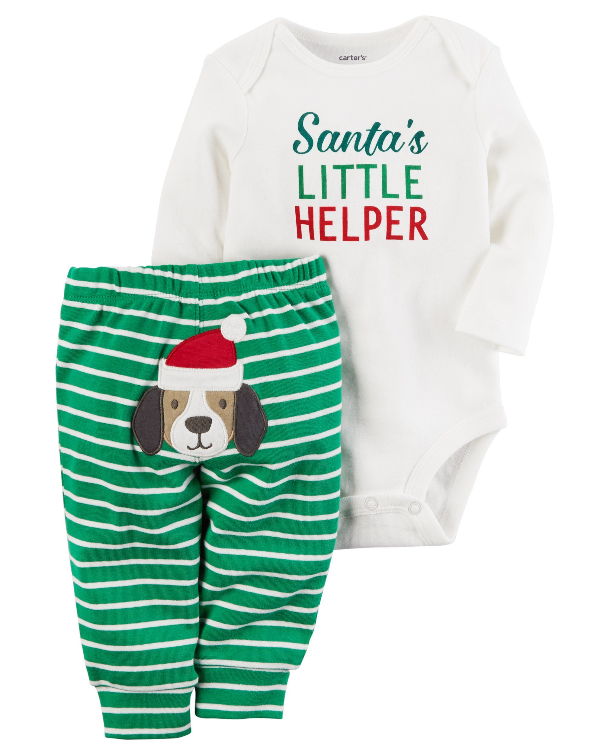 c7e985526 Carters Baby Boys 4 Piece Santas Little Helper Christmas Bodysuit and Pants  Set With Santa Hat 9 Months -- To view further for this item, see the  picture ...