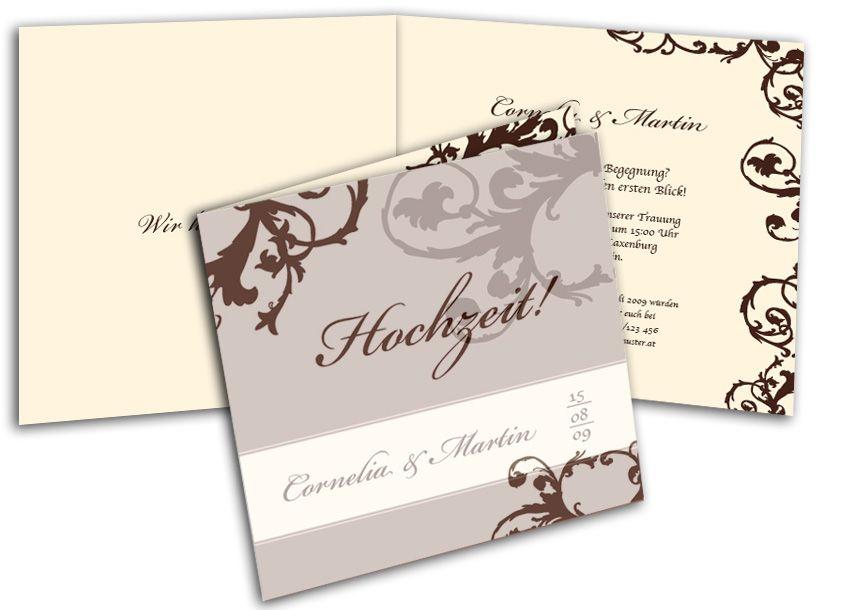 Hochzeitskarten Ornamente Beige Einladung Pinterest