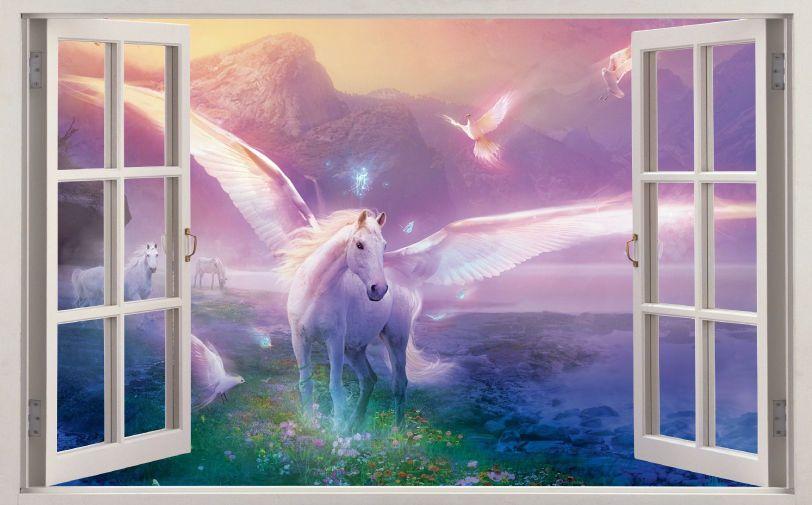 Murales pared Pegatina niños unicornio Fantasy caballo pegatinas Unicorn sticker