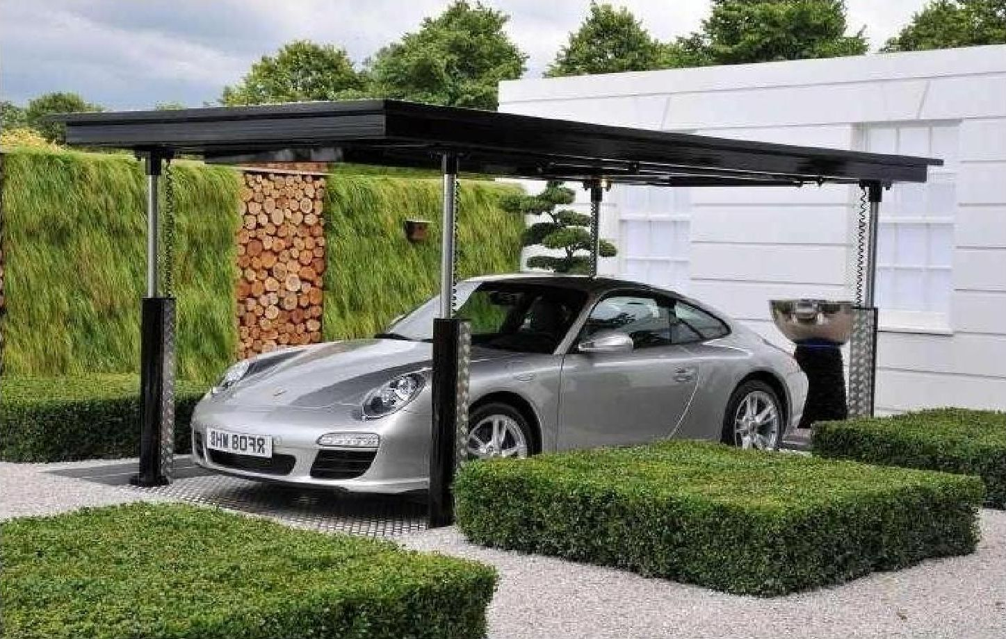 minimalist-open-garage-style-with-black-canopy-roof- & minimalist-open-garage-style-with-black-canopy-roof-are-design-in ...