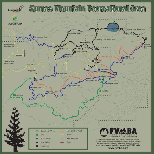 Sumas Group Social Ridefvmba Trail Maps Mountain Bike Trails