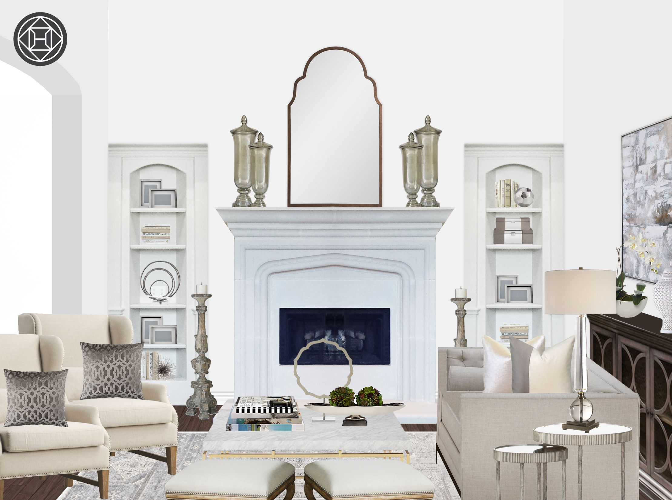Modern Classic Traditional Living Room Design By Havenly