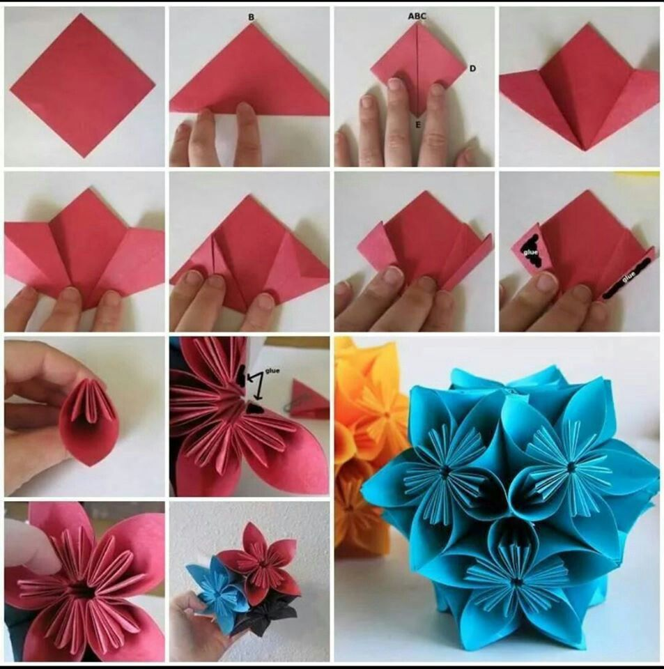 Hand Maker Origami Flowers Tutorial Paper Origami Flowers Flower Tutorial