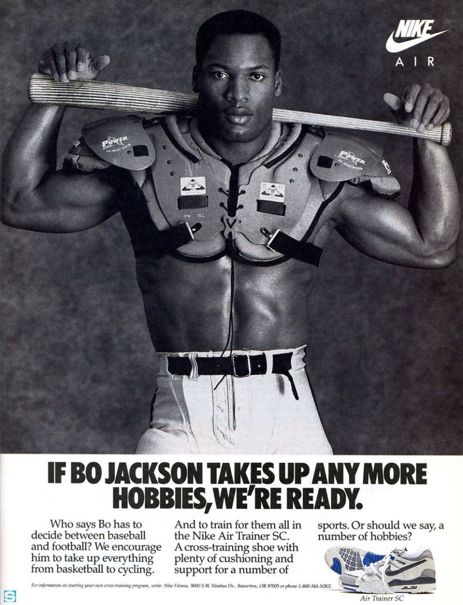 Vintage Ad Bo Jackson and the Nike Air Trainer SC Nike