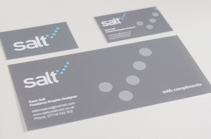 Salt Creative branding Business card and compliment slip Salt - compliment slip template