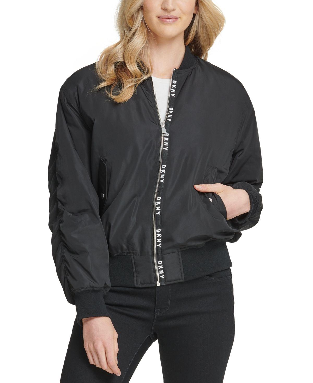 Dkny Bomber Jacket Black | Blazer jackets for women