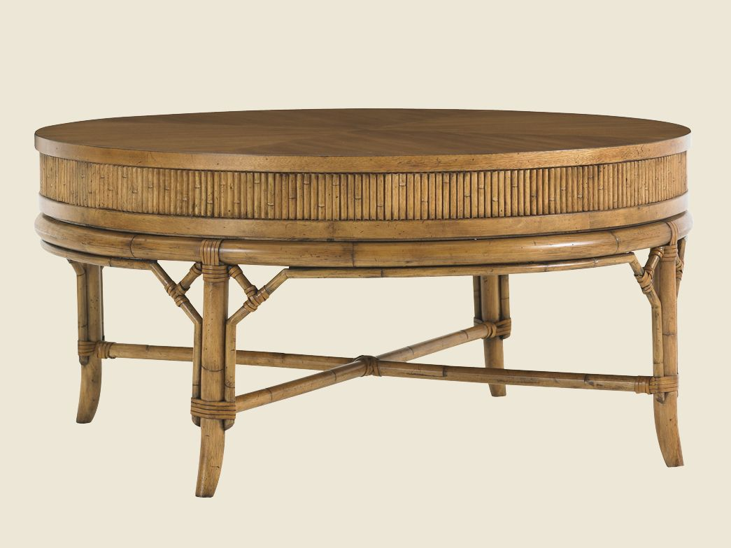 Beach House Oyster Cove Round Cocktail Table Lexington Home Brands
