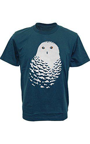 64cec3d84cb4e SODAtees bird nature OWL feather dark night Men s T-Shirt graphic tee -  Petrol - Small ❤ .