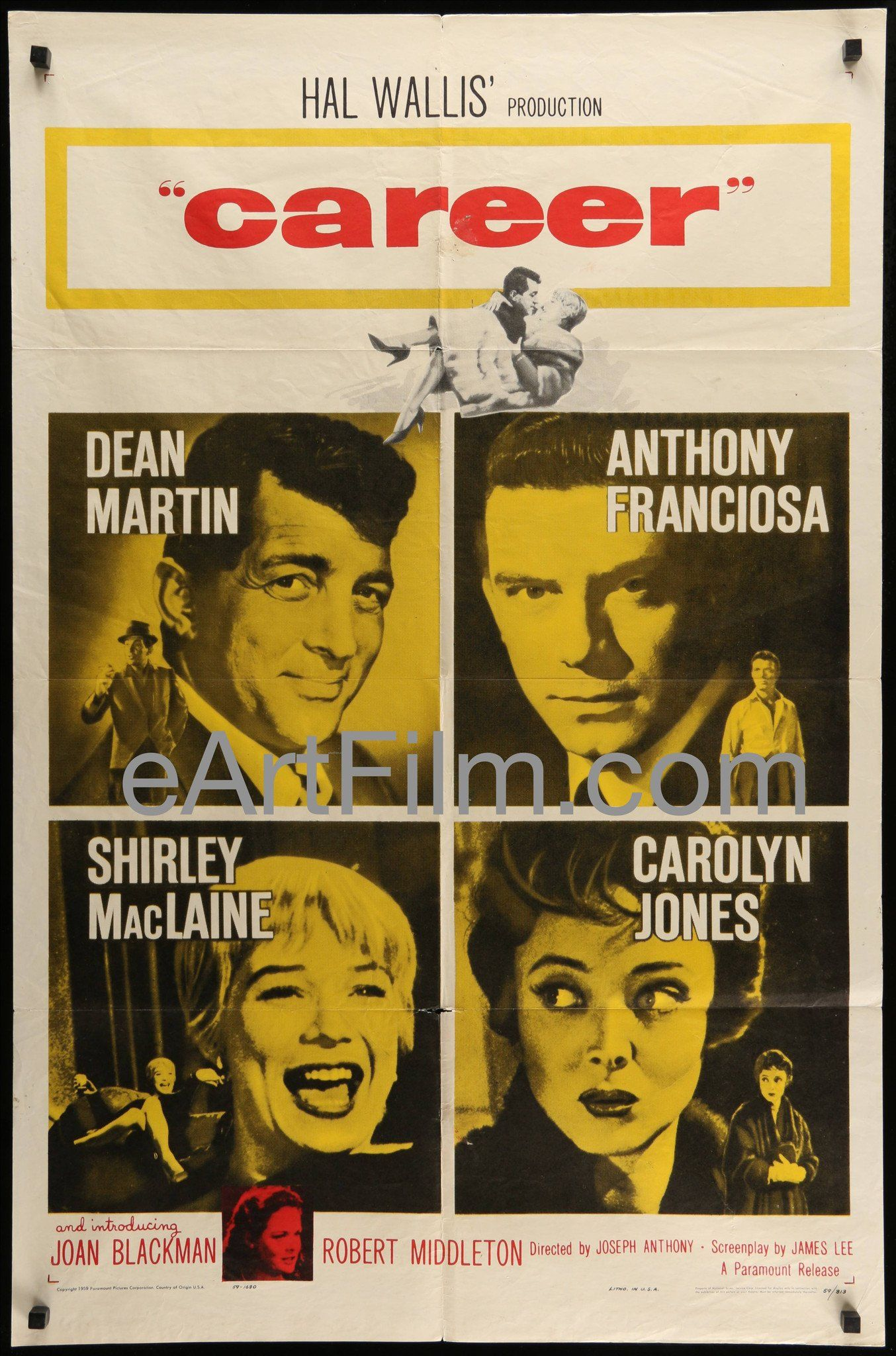 Career 1959 27x41 Original Us Movie Poster Dean Martin Shirley Maclaine Dean Martin This Is Us Movie Movie Posters