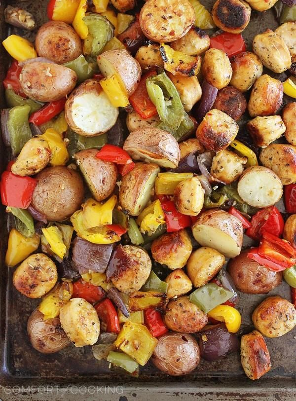 Roasted Chicken Sausage Peppers And Potatoes Potato