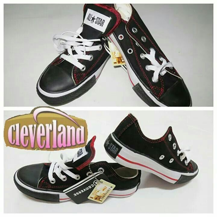Converse black strips red short, size 36-41. Converse All Star Original Lets