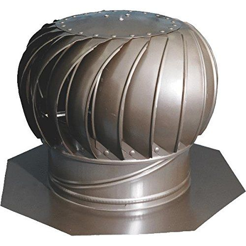 Ventamatic Wind Turbine Attic Exhaust Internal Bracing Aluminum 12in Weathered Gray Model Cx12ibalwg Detai Solar Attic Fan Roof Fan Roof Exhaust Fan