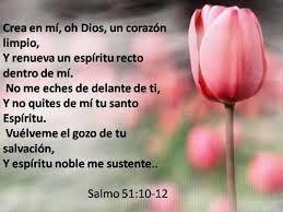 Resultado de imagen para salmos 51 10 | Salmos 51 10, Salmo