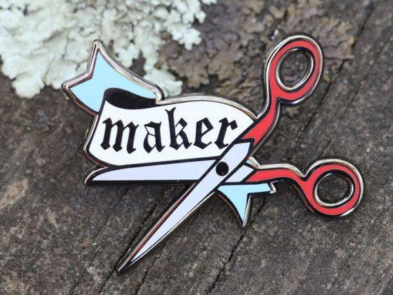 Maker Pin: enamel pin pin badge enamel lapel pin by ricracsews