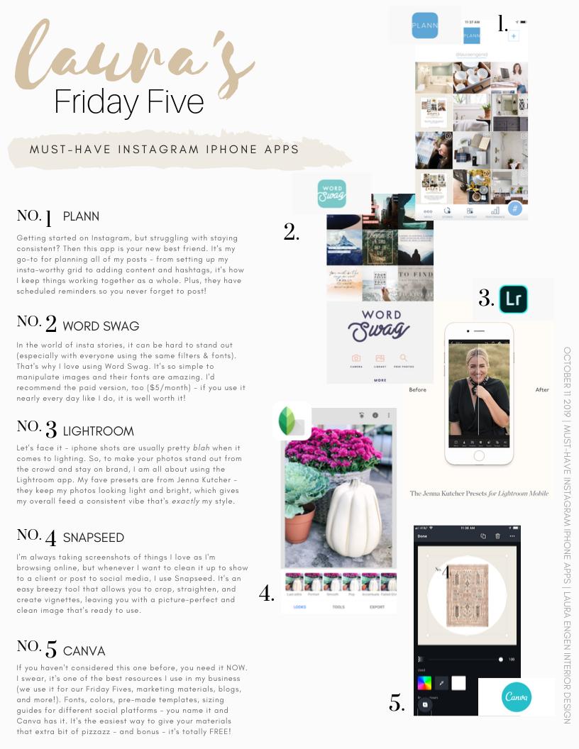 Laura S Friday Five Laura Engen Interior Design Iphone Apps Instagram Engen