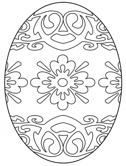 Free N Fun Easter Coloring Pages : Free easter egg coloring pages best colouring and