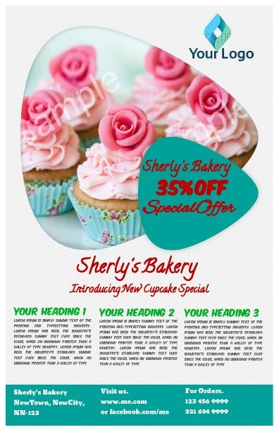 general bakery flyer to promote any new business perfect for