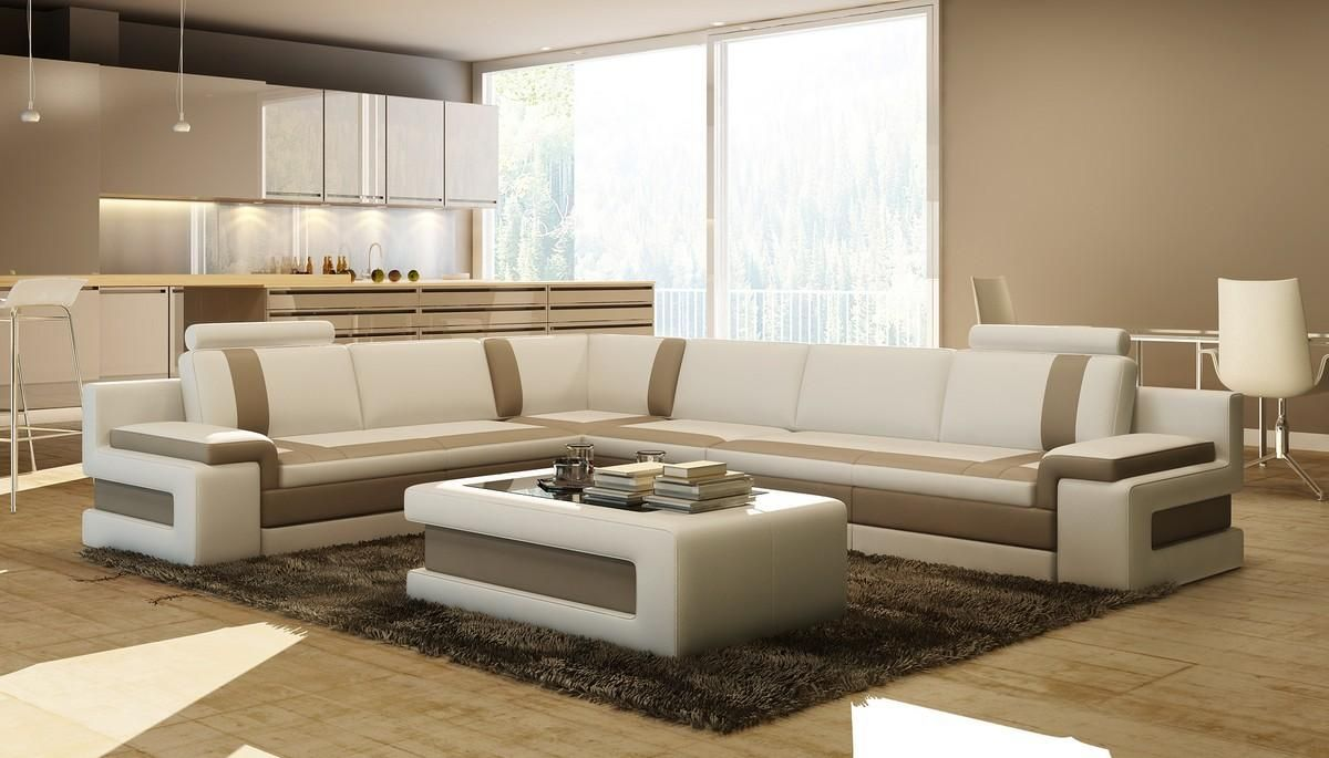 Vig Furniture VGEV5083 Divani Casa Modern Leather Sectional Sofa w Coffee Table | Outlety : vig sectional sofa - Sectionals, Sofas & Couches