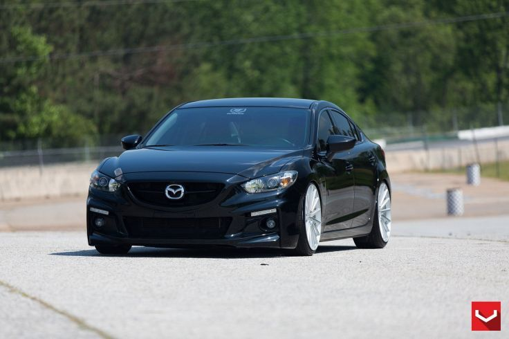 Vossen Wheels cars tuning Mazda-6 black wallpaper 1600x1066