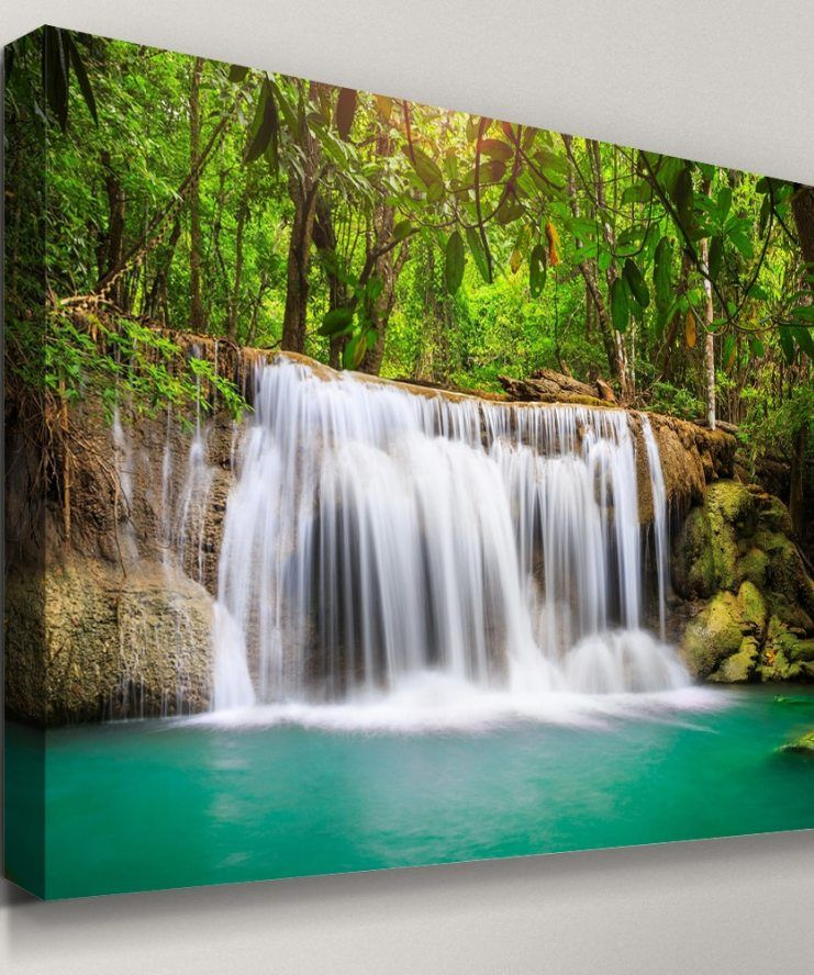 Printed Artwork Picture Hd 1 Pieces Waterfall Natural Scenery Frame Home Decor For Living Room Wall Art Modular Canvas Painting Artwork Pictures Canvas Painting Canvas Decor