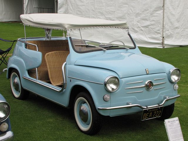 1960 fiat jolly i need a bigger garage pinterest fiat cars and cool cars. Black Bedroom Furniture Sets. Home Design Ideas