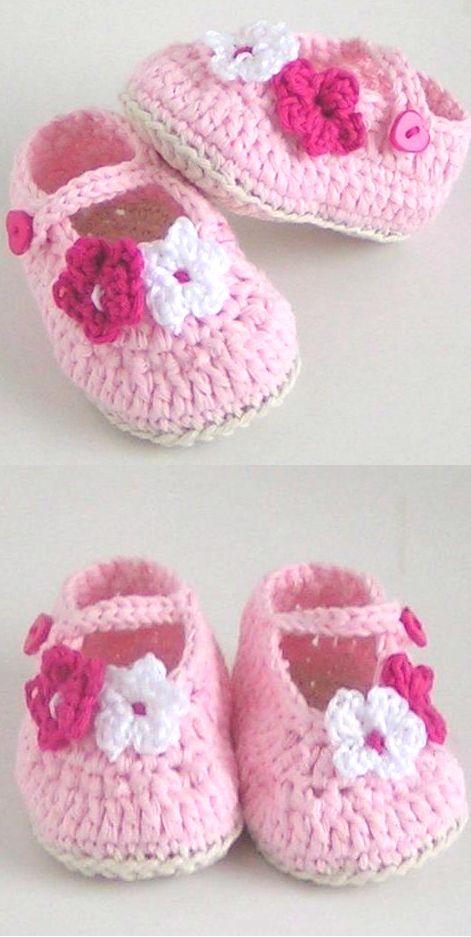 Häkelanleitung Babyschuhe Ballerinas | Pinterest | Makerist ...