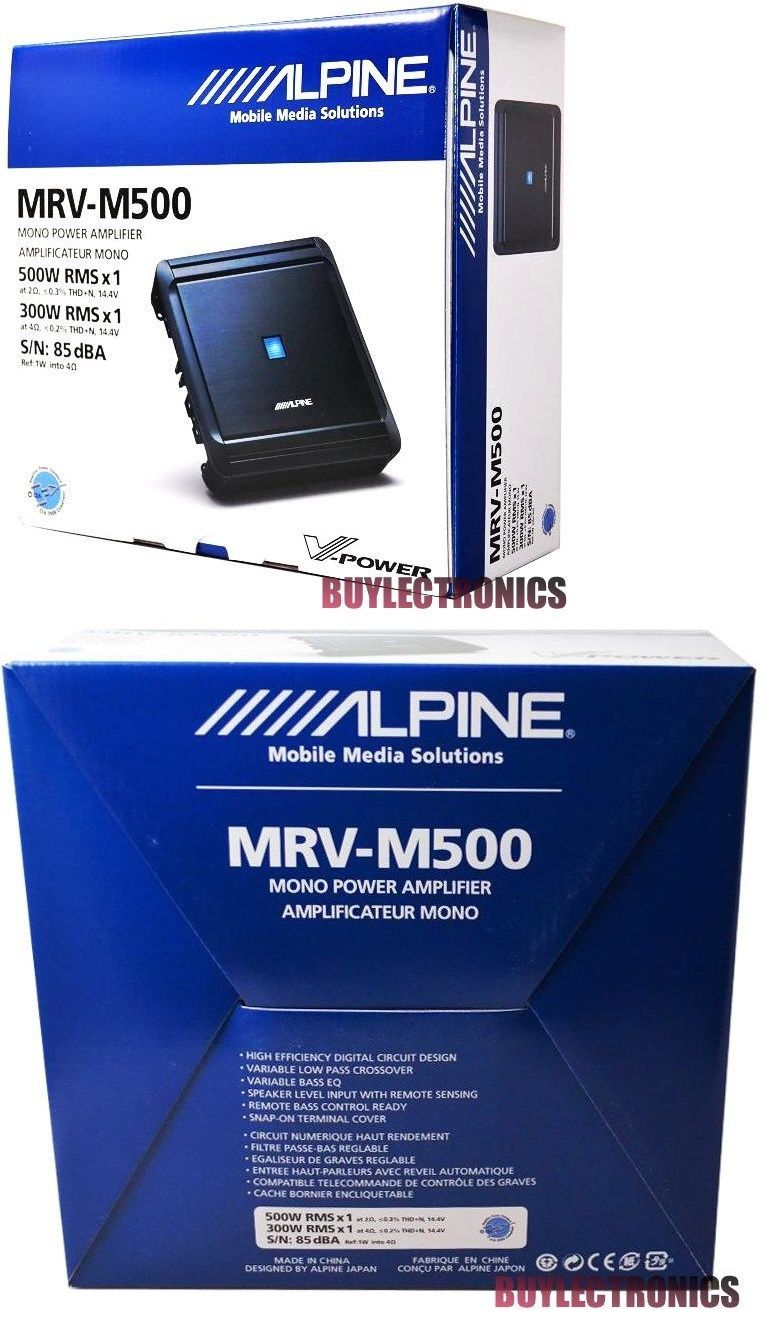 small resolution of car amplifiers alpine mrv m500 mono car audio amplifier 1 channel car amp vpower series class d buy it now only 135 75